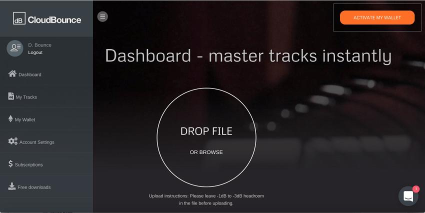 cloudbounce dashboard