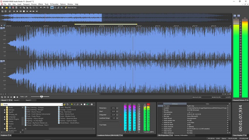 sound forge pro 13 in action