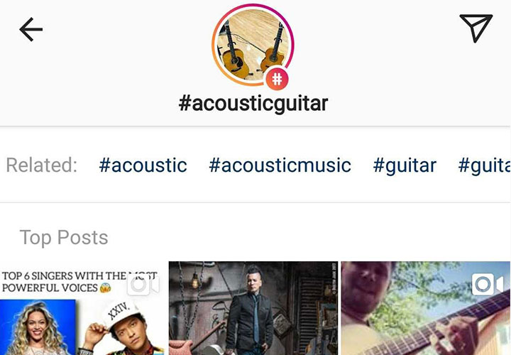 instagram musician hashtags